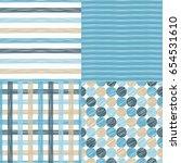 set of 4 seamless grunge... | Shutterstock .eps vector #654531610