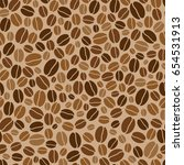 seamless background with coffee ... | Shutterstock . vector #654531913