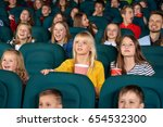 cinema auditorium full of... | Shutterstock . vector #654532300