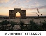 the arch of caracalla in... | Shutterstock . vector #654532303