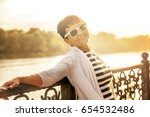 portrait of a happy attractive... | Shutterstock . vector #654532486