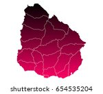 map of uruguay | Shutterstock .eps vector #654535204
