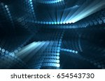 abstract light emitting circles ... | Shutterstock . vector #654543730