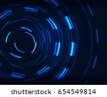 neon blue circles vector...   Shutterstock .eps vector #654549814