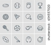 vector illustration of 16 sport ... | Shutterstock .eps vector #654557020