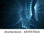 abstract light emitting circles ... | Shutterstock . vector #654557818