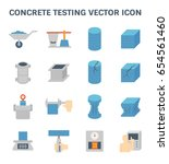 vector icon of concrete... | Shutterstock .eps vector #654561460