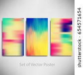 collection of blurry... | Shutterstock .eps vector #654571654