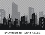 the silhouette of the city in a ... | Shutterstock .eps vector #654572188