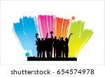 people group silhouette | Shutterstock .eps vector #654574978