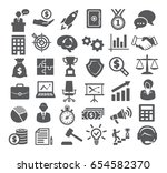 business icons set. management  ... | Shutterstock . vector #654582370