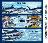 fresh fish seafood restaurant... | Shutterstock .eps vector #654586903