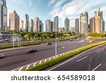 the modern building of the... | Shutterstock . vector #654589018