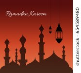 ramadan backgrounds vector... | Shutterstock .eps vector #654589480