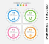 infographic four options ... | Shutterstock .eps vector #654593500