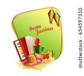 vector illustration of festa... | Shutterstock .eps vector #654597310