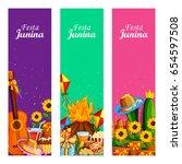 vector illustration of festa... | Shutterstock .eps vector #654597508