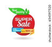 vector colorful sale banner in... | Shutterstock .eps vector #654597520