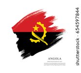 flag of angola  brush stroke... | Shutterstock .eps vector #654597844