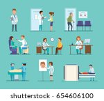 medicine and doctor's visit.... | Shutterstock .eps vector #654606100
