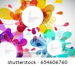 random colorful bubbles with...   Shutterstock .eps vector #654606760