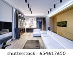 russia moscow   modern interior ... | Shutterstock . vector #654617650