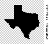 texas map isolated on... | Shutterstock .eps vector #654618316