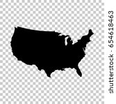 usa map isolated on transparent ... | Shutterstock .eps vector #654618463