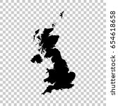 united kingdom map isolated on... | Shutterstock .eps vector #654618658