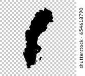 sweden map isolated on...   Shutterstock .eps vector #654618790