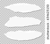 set of  realistic vector torn... | Shutterstock .eps vector #654625150
