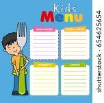 kids menu vector template | Shutterstock .eps vector #654625654