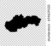 slovakia map isolated on...   Shutterstock .eps vector #654629320