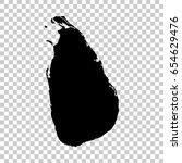 sri lanka map isolated on...   Shutterstock .eps vector #654629476