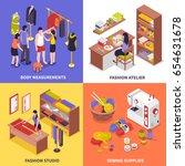 fashion atelier 2x2 design... | Shutterstock .eps vector #654631678