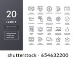 seo line icons. vector web... | Shutterstock .eps vector #654632200