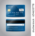 realistic detailed credit cards ... | Shutterstock .eps vector #654633778