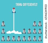 think differently   being... | Shutterstock .eps vector #654634903