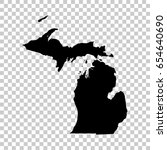 michigan map isolated on... | Shutterstock .eps vector #654640690