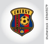 set of soccer badge logo .... | Shutterstock .eps vector #654645079