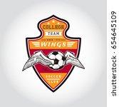 set of soccer badge logo .... | Shutterstock .eps vector #654645109