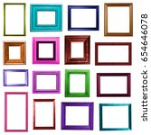 picture frames on white... | Shutterstock . vector #654646078