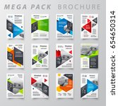 mega pack brochure design... | Shutterstock .eps vector #654650314