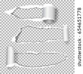 set of  realistic vector torn... | Shutterstock .eps vector #654651778