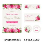 wedding invitation cards with...   Shutterstock .eps vector #654653659