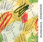 crayon textured doodles with...   Shutterstock .eps vector #654655450
