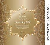 wedding card  invitation card... | Shutterstock .eps vector #654656548