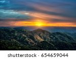 dramatic sunrise twilight sky... | Shutterstock . vector #654659044