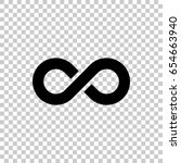 infinity symbol isolated on... | Shutterstock .eps vector #654663940
