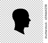 face silhouette in profile... | Shutterstock .eps vector #654664258